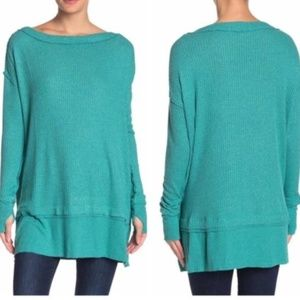 Free people North Shore Thermal Aqua Bright